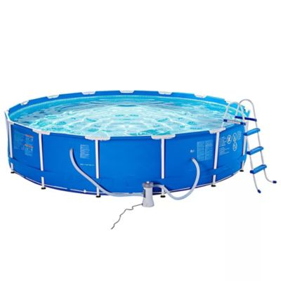 Set piscina estructural 457 x 91 cm accesorios for Piscina estructural intex
