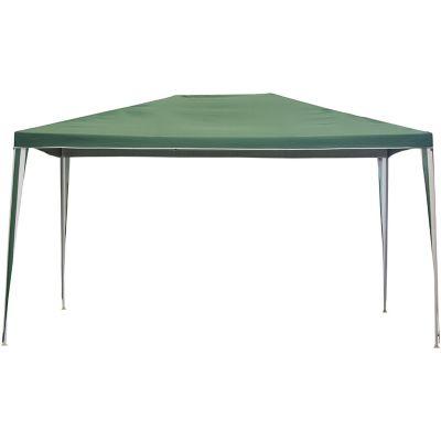 Gazebo poliéster verde 3 x 4 x 2,5 m