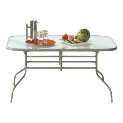 Mesa de jardín de aluminio