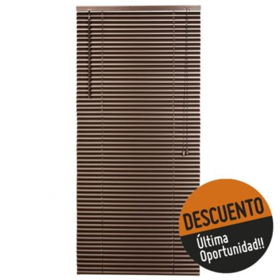 Persiana de PVC chocolate 120 x 220 cm