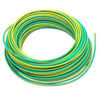 Cable unipolar 2.5 mm2 verde y amarillo 30 m