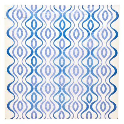 Cortina de baño y ganchos 180 x 180 cm azul
