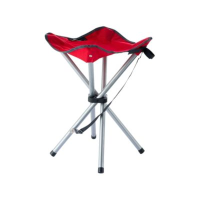 Banquito plegable para camping con 4 patas