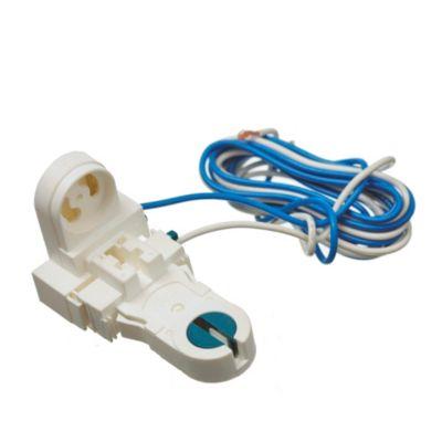 Zócalo con Rotor para Tubos Fluorescentes y Portarrancador Blanco
