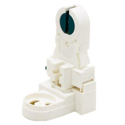 Zócalo con Rotor para Tubos Fluorescentes Blanco