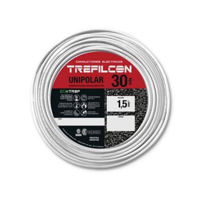 Cable unipolar 1.5 mm2 blanco 30 m