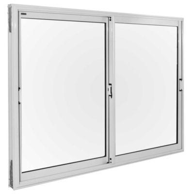 Ventana de aluminio blanca 150 x 110 x 10 cm