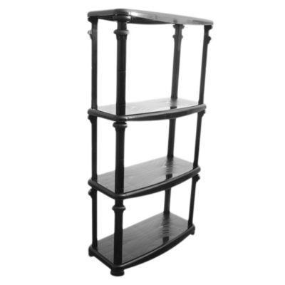 Estanteria plástico ajustable negro 4 estantes