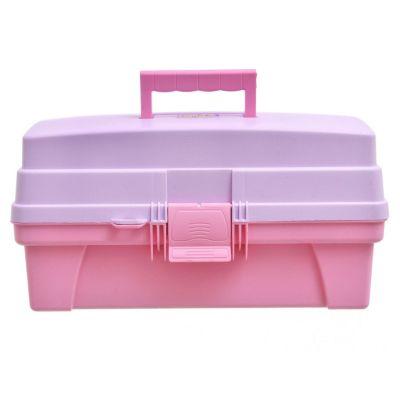 Caja organizadora vanity 14 rosado y lila