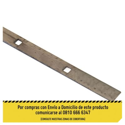 Planchuela perforada perfil cuadrado 12.7 mm