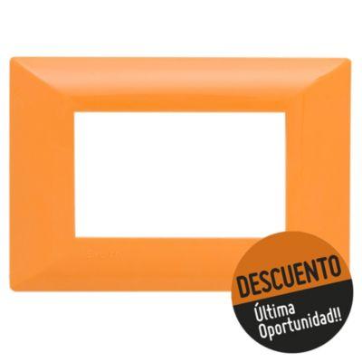 Tapa rectangular naranja línea duna