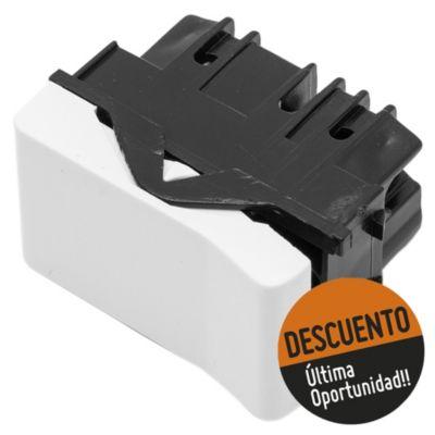Módulo 1 interruptor línea duna blanco 10 ax