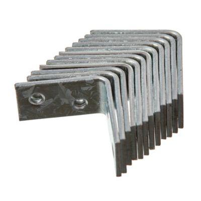 Esquinero ángulo cromo 25 mm por 12 unidades