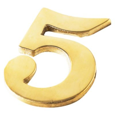 Número bronce n° 5 60 mm
