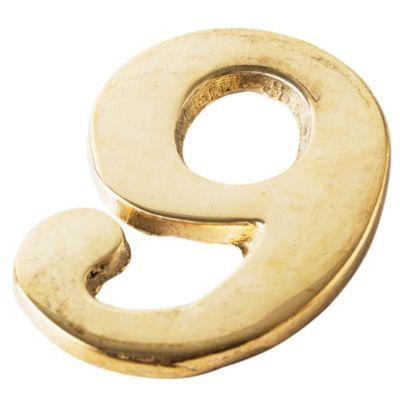 Número bronce n° 6 60 mm