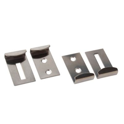 Soporte para espejo 6 mm inoxidable por 4 unidades