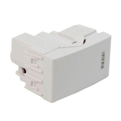 Módulo interruptor unipolar simple blanco