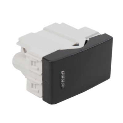 Módulo interruptor unipolar simple negro