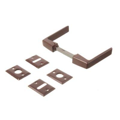Manija biselada doble balancín marrón
