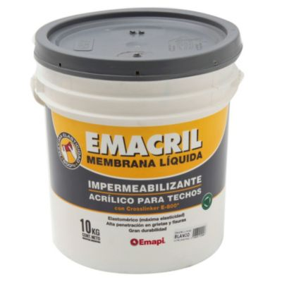 Impermeabilizante para techos emacril blanco 10 kg
