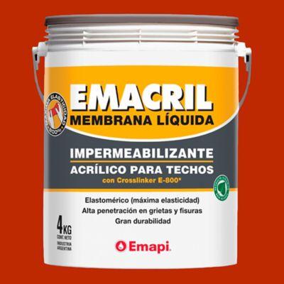 Impermeabilizante para techos emacril teja 4 kg