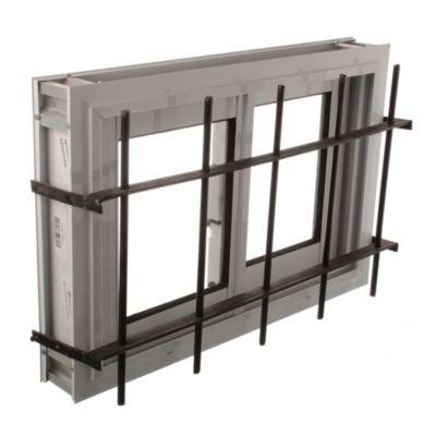 Ventana de aluminio blanca 60 x 40 cm con reja