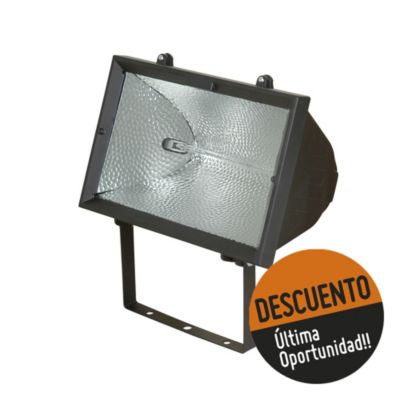 Proyector para lámpara halógena 500 w negro