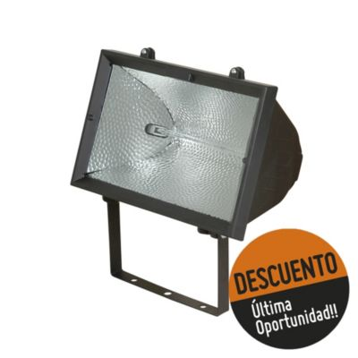 Proyector para lámpara halógena 1500 w negro