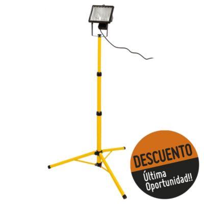 Proyector para lámpara halógena trípode + reja + cable 500 w