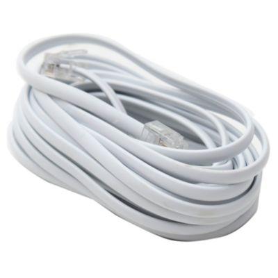 Cable prolongador teléfono blanco 4 m
