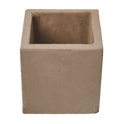 Maceta cemento cubo 10 x 10 cm