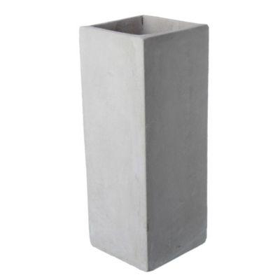 Maceta cemento cubo 15 x 40 cm