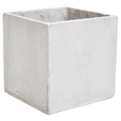 Maceta de cemento cubo 20 x 20 cm