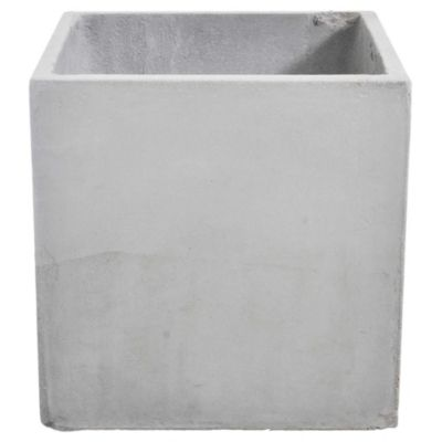 Maceta cemento cubo 30 x 30 cm