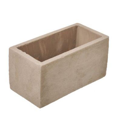 Maceta jardínera cemento 10 x 10 x 20 cm