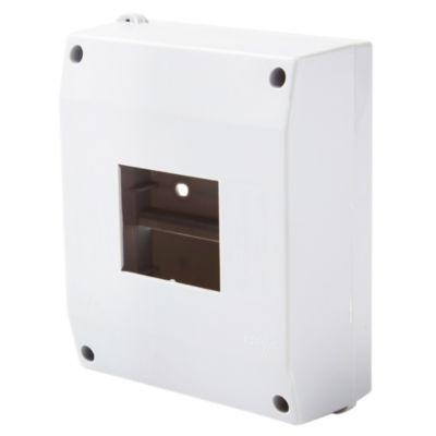 Caja plástica gris IP40 3 a 6 módulos unipolares