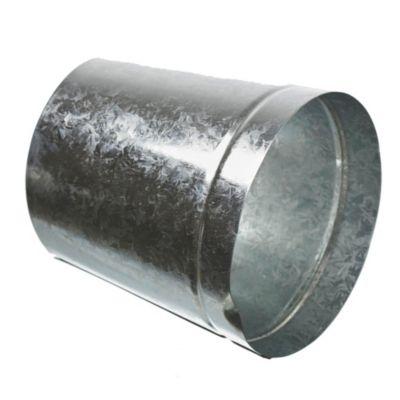 Reducción cónica en chapa galvanizada 125 x 150 mm