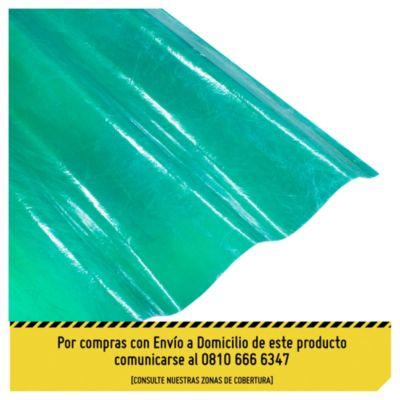 Chapa plástica verde 1.10 x 3.05 m