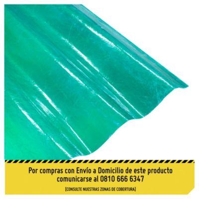 Chapa plástica verde 1.10 x 4.27 m