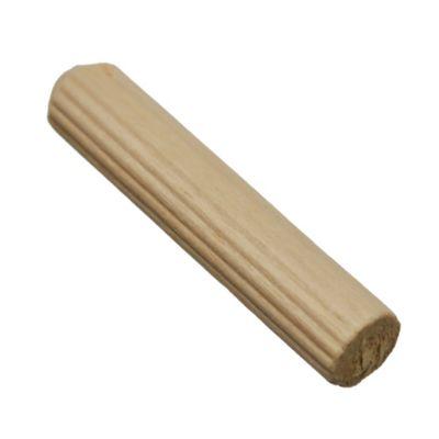 Tarugo madera estriada 8 x 40 mm por 45 u