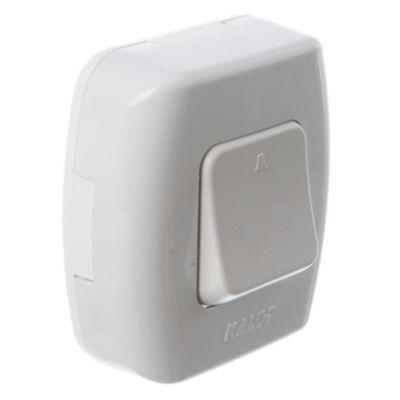 Caja superficie 1 pulsador blanco