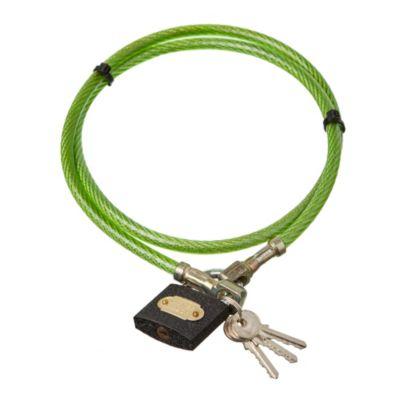 Linga seguridad 11 mm x 1.20 m gruesa con candado 3 llaves