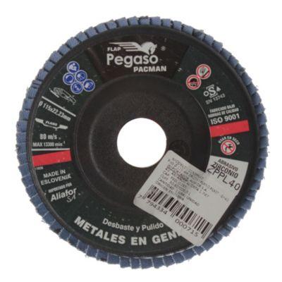 Disco plástica plano 115 mm grano 60