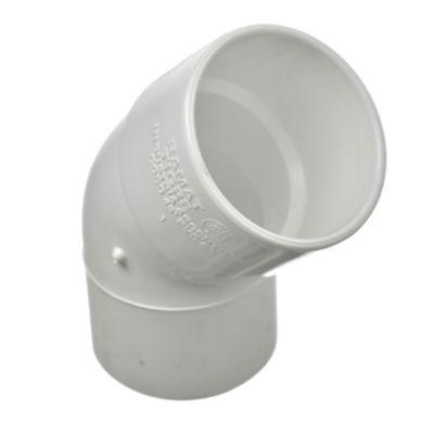 Codo PVC a 45° mh 63 mm