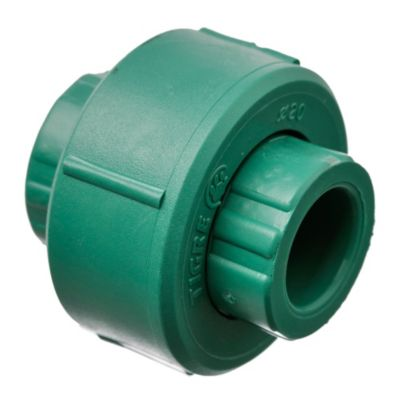 Unión doble con tuerca plástica 20 mm