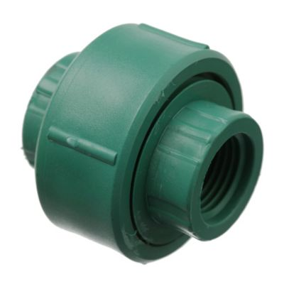Unión doble con tuerca plástica 25 mm