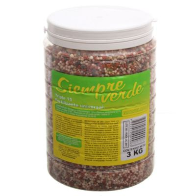 Fertilizante triple 15 de 3 kg