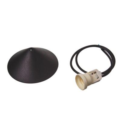 Florón con Prensa cable y cable negro