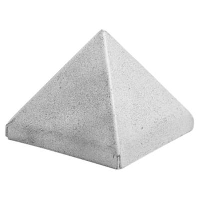 Tapa pirámide 6 x 6 cm chapa plegada