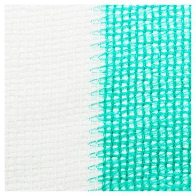 Media sombra verde/blanco 4,20 m